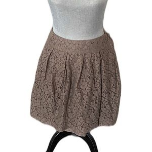 Costa Blanca Taupe Lace Overlay Skirt